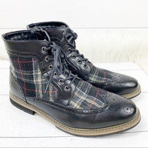Bruno Marc Bergen Wing Tip Black Chukka Boots 11